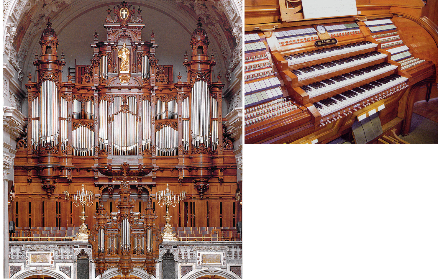 disposition der orgel in specification of the organ at berlin mitte dom hauptorgel. Black Bedroom Furniture Sets. Home Design Ideas